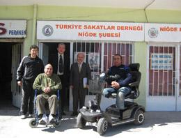 Niğde'de engelliler için örnek kampanya
