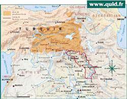 Irak Kürt Bölgesi Harita
