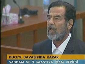18575 - Saddam H�seyin i�in �dam Karar�
