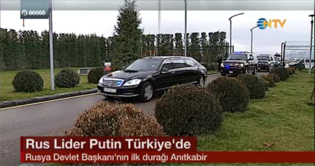 Rusya Devlet Başkanı Vladimir Putin'in Esenboğa Havalimanı'ndan ayrılışı sırasında yoğun güvenlik önlemleri dikkatlerden kaçmadı. jpg