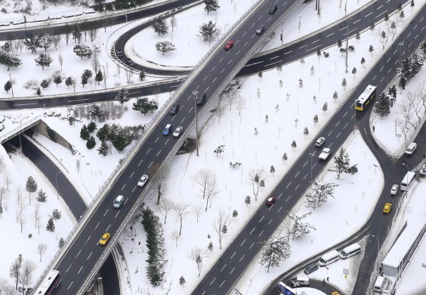 Istanbul da hava durumu kar yağışı