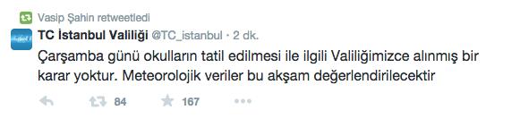 11 şubat 2015 çarşamba eskişehir de okullar tatil mi yarın