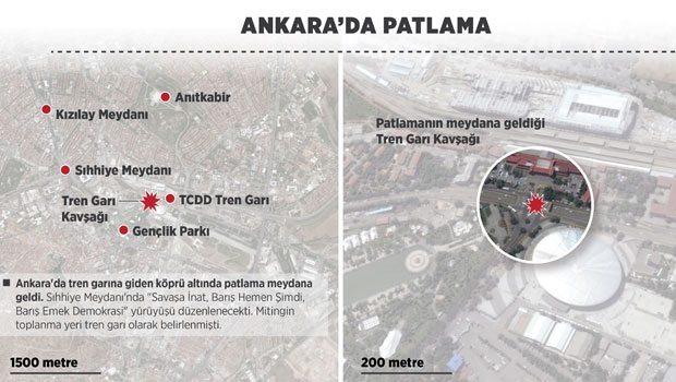 ankara patlama ankara saldırı nerede nasıl oldu kaç kişi öldü kim yaptı.