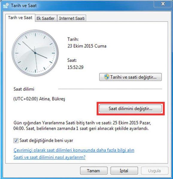 bilgisayar saat