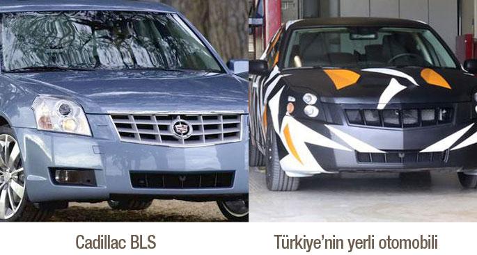 cadillac bls ve yerli otomobil araba